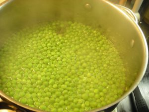 3- Peas cooking