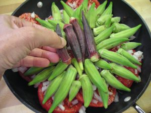 4-Fill in top with okra